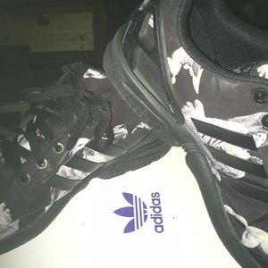 Adidas black and white Zeus shoes